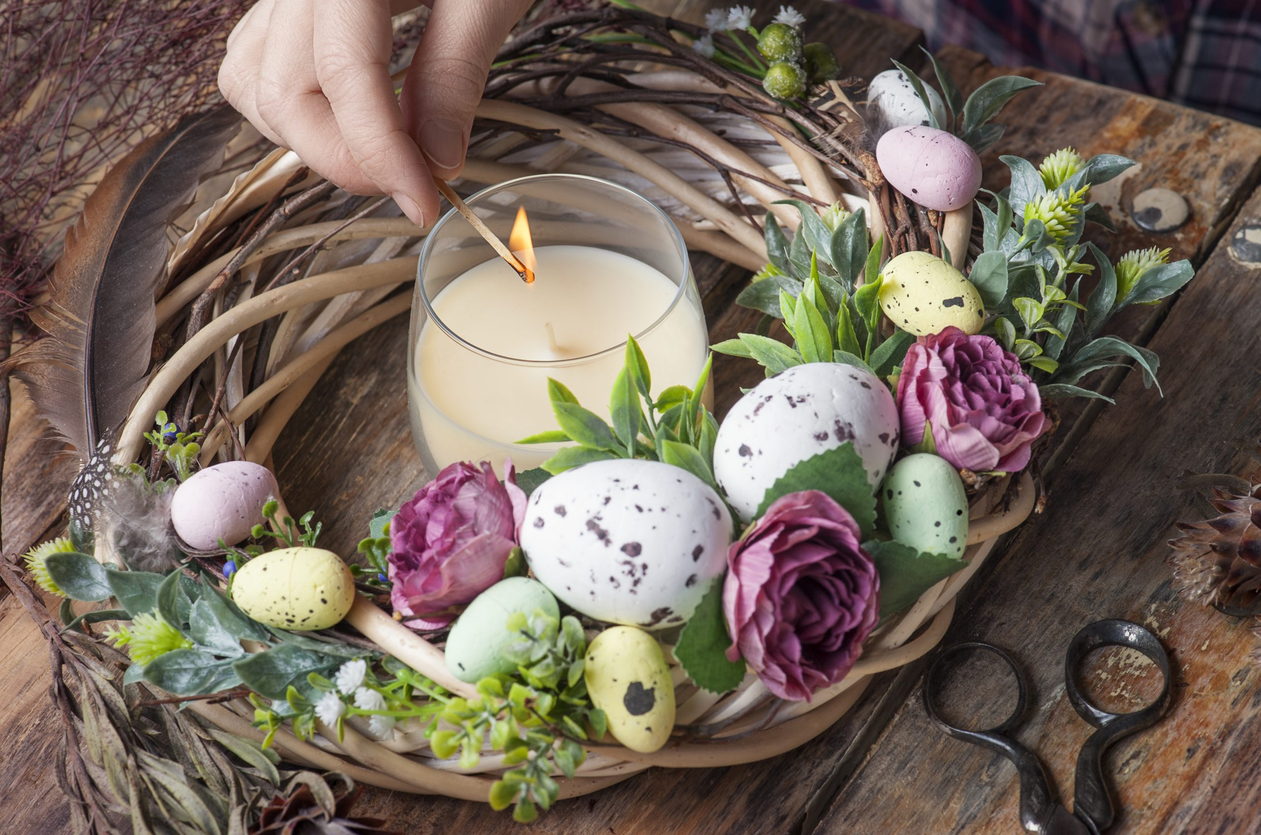 Scented candles for cocooning